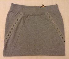 Lady Authentic Juicy Couture Skirt Grey cotton jersey Size S NEW