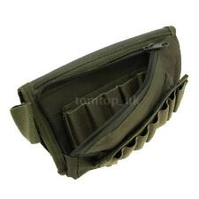 Tactical Airsoft Rifle Shotgun Buttstock Shell Ammo Holder Stock PouchGreen Z80M