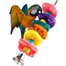 Parrot Bird Playing Cages Cockatoo Loofah Sponge Bite Resistant Fun Toys Cage