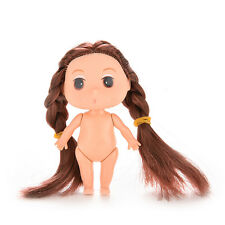 1Pcs 8cm Doll with Double Brown Braids for ddung Girl Dolls as Dollhouse Girls