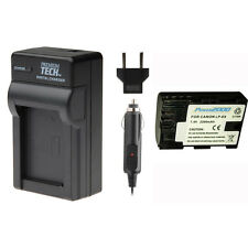 Premium Tech LP-E6 Battery + LPE6 Charger Set for Canon EOS 60D, 70D, 5D, 6D, 7D