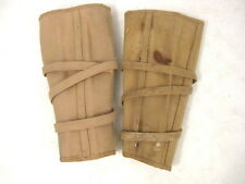 pre-WWI US Army Cavalry Officer Canvas Puttees Leggins w/Canvas Strap RARE