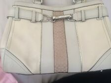 100% Authentic Coach Hampton Ivory Satchel F11681