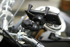 "1"" Handlebar Ram Phone GPS Mount KIT Motorcycle Harley Honda iphone Droid"