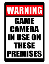 NO TRESPASSING Sign Game Camera Use ..Aluminum..Custom Sign..High gloss.NO RUST