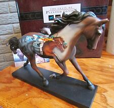 Trail of Painted Ponies PHOTO FINISH Embossed Thoroughbred Race Horse NIB!