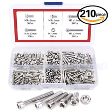 420pcs M2 M3 Stainless Steel Hex Socket Head Cap Screws Nuts Assortment Kit