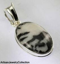 ZEBRA JASPER PENDANT 925 STERLING SILVER ARTISAN JEWELRY COLLECTION Y158B