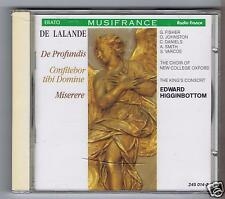 DE LALANDE CD NEW DE PROFUNDIS / THE KING'S CONSORT EDWARD HIGGINBOTTOM