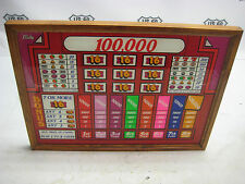 Vintage Large Bally Slot Machine Payout Glass with Frame - Re-purposed