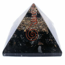 Black Tourmaline Orgonite Pyramid Orgone Energy Generator EMF Protector 70mm