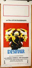 locandina film DESPAIR Rainer Werner Fassbinder Dirk Bogarde 1982