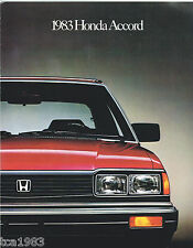 1983 HONDA ACCORD Brochure/Catalog: Hatchback, LX,