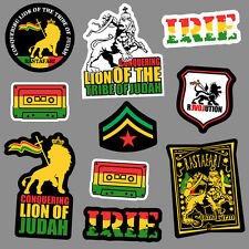 10x Lion of Judah Sticker decal vinyl rasta rastafari jamaica reggae car skate