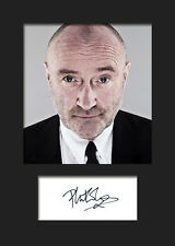 PHIL COLLINS #1 Signed Photo Print A5 Mounted Photo Print - FREE DELIVERY