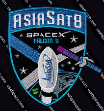 """ASIASAT 8 - AUTHENTIC SPACEX FALCON 9  4 1/2"""" SATELLITE SPACE Mission PATCH MINT"""