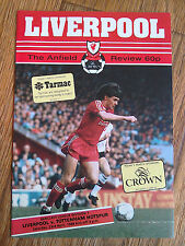 23/04/1988 Liverpool Vs Tottenham Division One Football Match Programme Spurs