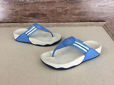 Women's FitFlop Wobble Board Light Blue Flip Flops Size 8 Toning Comfort