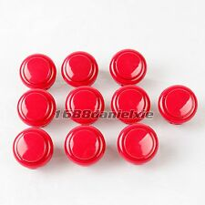 10x OEM 24mm Push Button Replace For Arcade Sanwa OBSF-24 OBSN-24 MAME JAMMA Red