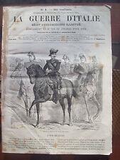 1859 RISORGIMENTO GUERRE D'ITALIE n.1 BATTAGLIA SESIA (PALESTRO) MONTEBELLO....
