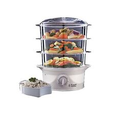 Russell Hobbs 21140 800W 9L 3-Tier Food Steamer Steam Cooker Vegetables