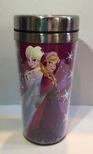 DISNEY FROZEN TRAVEL MUG FEATURING ELSA AND ANNA - RED