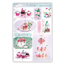 """PAPERMANIA LUCY CROMWELL GLITTER TOPPERS """"TEA"""" GREAT FOR CARDS & CRAFTS"""