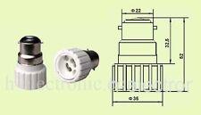 5 stück Adapter B22 auf GU10 Lampen Fassung Sockel F5 Sockel Halogen glühbirne