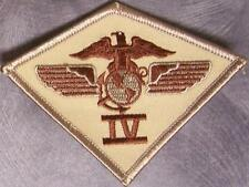 Embroidered Military Patch USMC 4th Marine Aircraft Wing Airwing NEW desert