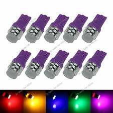 10X Changing Color RGB 1 LED COB T10 W5W Wedge Side Light Car Bulb Lamp 12V A131