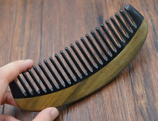 High Quality Ox horn vs Sandalwood comb wide teeth comb Curl Hair Comb