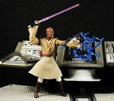 "Hasbro Star Wars 3.75"" Action Figure 1:18 Jedi Master Mace Windu Lightning K620"