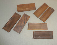 Lot of 8 Walnut Wood Rectangle Recessed Blanks for Crafts Boxes