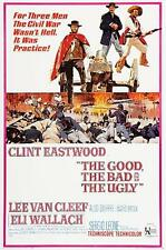 THE GOOD,THE BAD and THE UGLY - LARGE movie poster FRIDGE MAGNET- EASTWOOD!