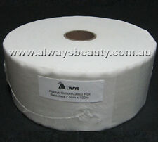 Always Waxing Wax Strip Calico Roll Bleached Strips Cotton Cloth 7.5CMx100M Roll