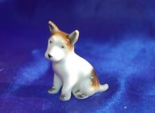 Antique Nice porcelain Jack Russell Smooth Fox terrier dog marked Foreign