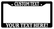 Black License Plate Frame Custom Saying Auto Personalize Your Saying