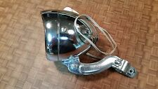 Vintage Oxford Chrome Bicycle Head Light, Front Lamp, Original with Button Horn