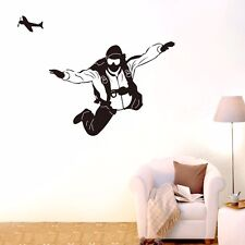 Parachute Jumper Sport Wall Removable Art Decal Vinyl Sticker Mural Decor DIY