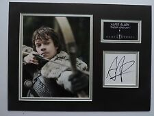 ALFIE ALLEN - GAME OF THRONES - XMAS OFFER - SUPERB SIGNED DISPLAY - COA