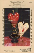 "Queen of Hearts Pincushion + Pin Kit and Rusty Spring Base - Pattern - 7"" High"