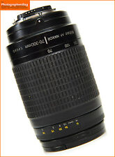 Nikon 70-300mm F4-5.6G Autofocus Zoom Lens for Film / Digital SLRs  Free UK Post