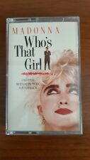 Madonna Who's That Girl (OST) CASS  Italy 92 5611-4 Mint Rebel Heart