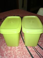 TUPPERWARE - Vtg Shelf Savers Yellow Storage Containers - Lot of 2 - #1243