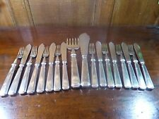 MAPPIN & WEBB Silver Plated 16 piece FISH SET and matching FISH SERVERS