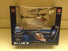 BLUE 2 PILOT BRAND 3-CHANNEL HELICOPTER W/ GYRO STABILIZATION - BRAND NEW IN BOX