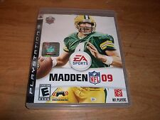 (2) Madden NFL 09 (PS 3 2008) + NHL 11 (P3, 2010) Football Hockey Games Manuals