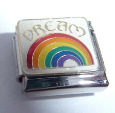 DREAM & RAINBOW Italian Charm - Life Hope Love 9mm fits Classic Starter Bracelet