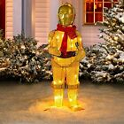 STAR WARS C-3PO Tinsel 36 inch Lighted Holiday Yard Decoration BRAND NEW