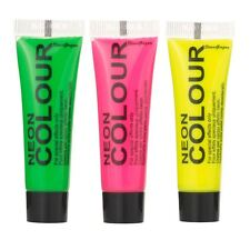 Stargazer VISO & corpo pittura set di 3 Colori al Neon Party Festival (3 x 10ml)